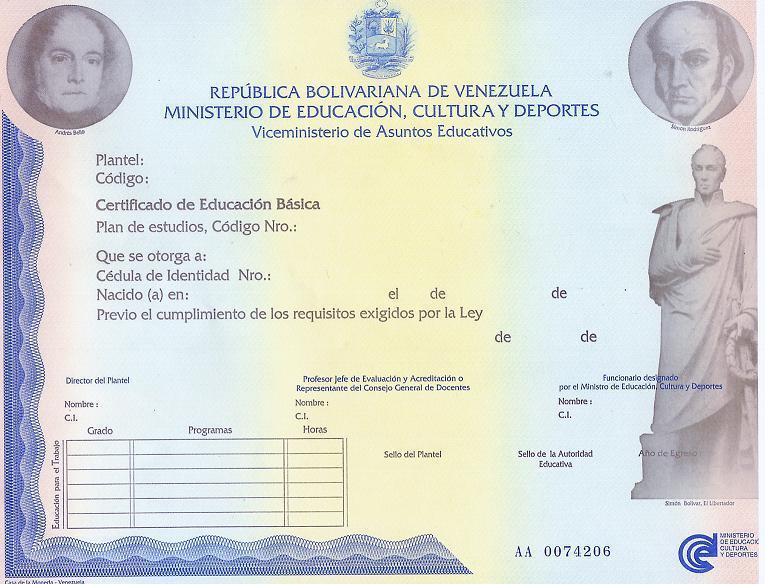 educacion de adultos hoja de registro nuevos titulos y certificados